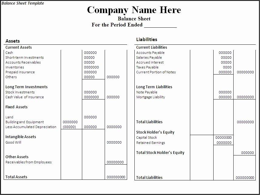 10 Balance Sheet Templates