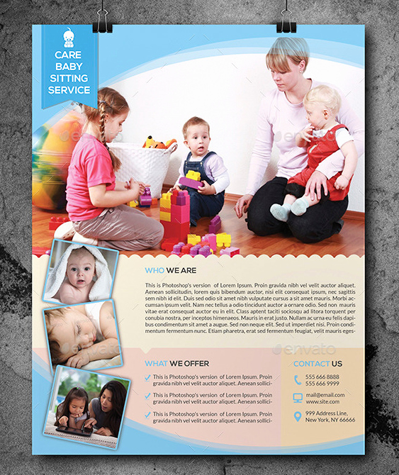 10 Beautiful Babysitting Flyer Templates