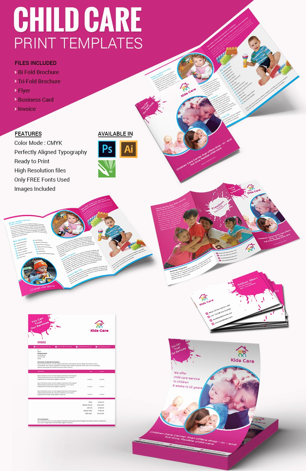 10 Beautiful Child Care Brochure Templates