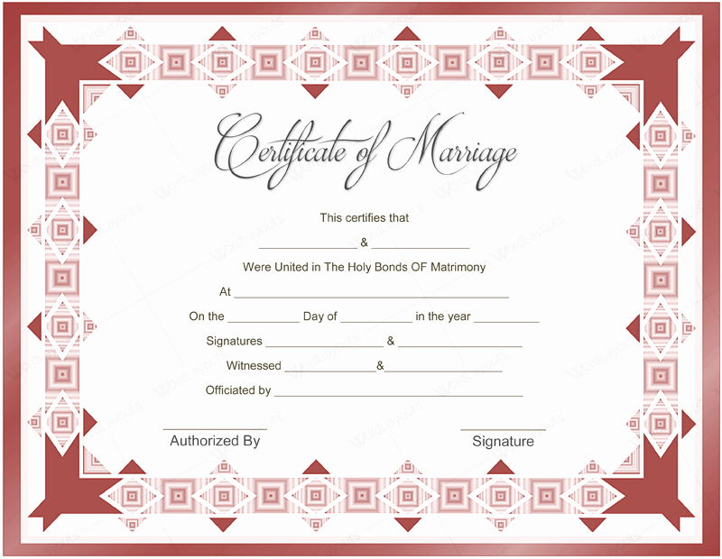 10 Beautiful Marriage Certificate Templates to Try This Season