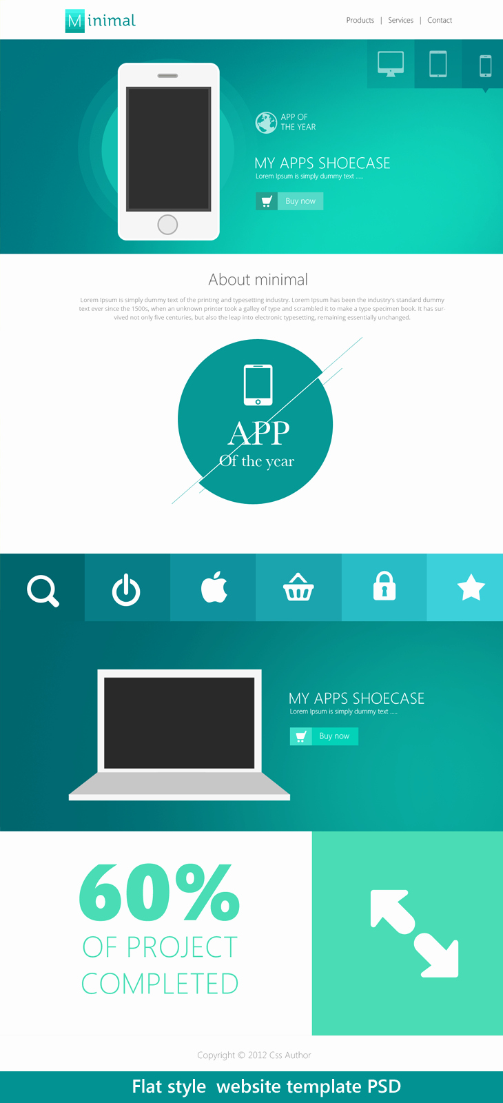 10 Beautiful Web Design Template Psd for Free Download