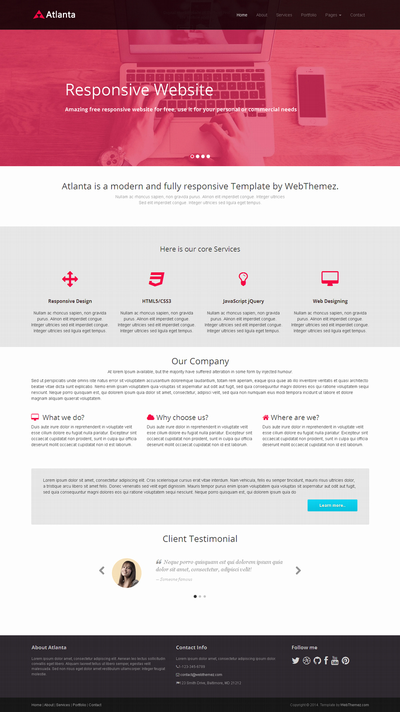 10 Best Free Website HTML5 Templates – July 2014
