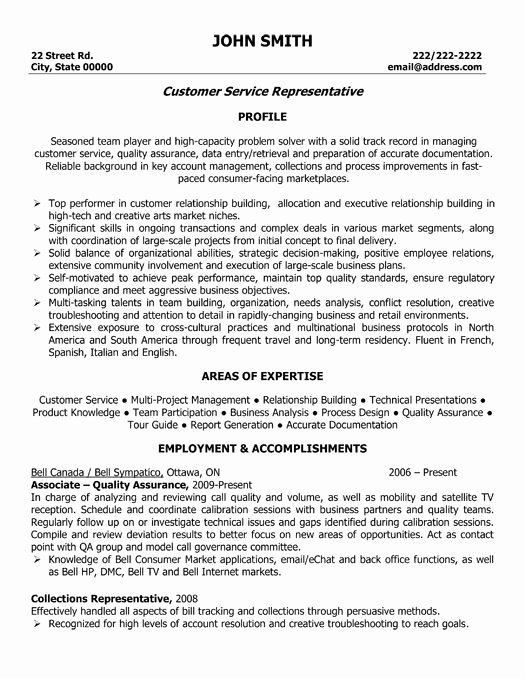best customer service resume templates samples