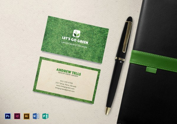 10 Best Landscaping Business Card Templates Pages Ai