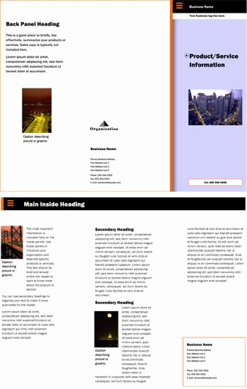 10 Best Of 3 Sided Brochure Template Fold
