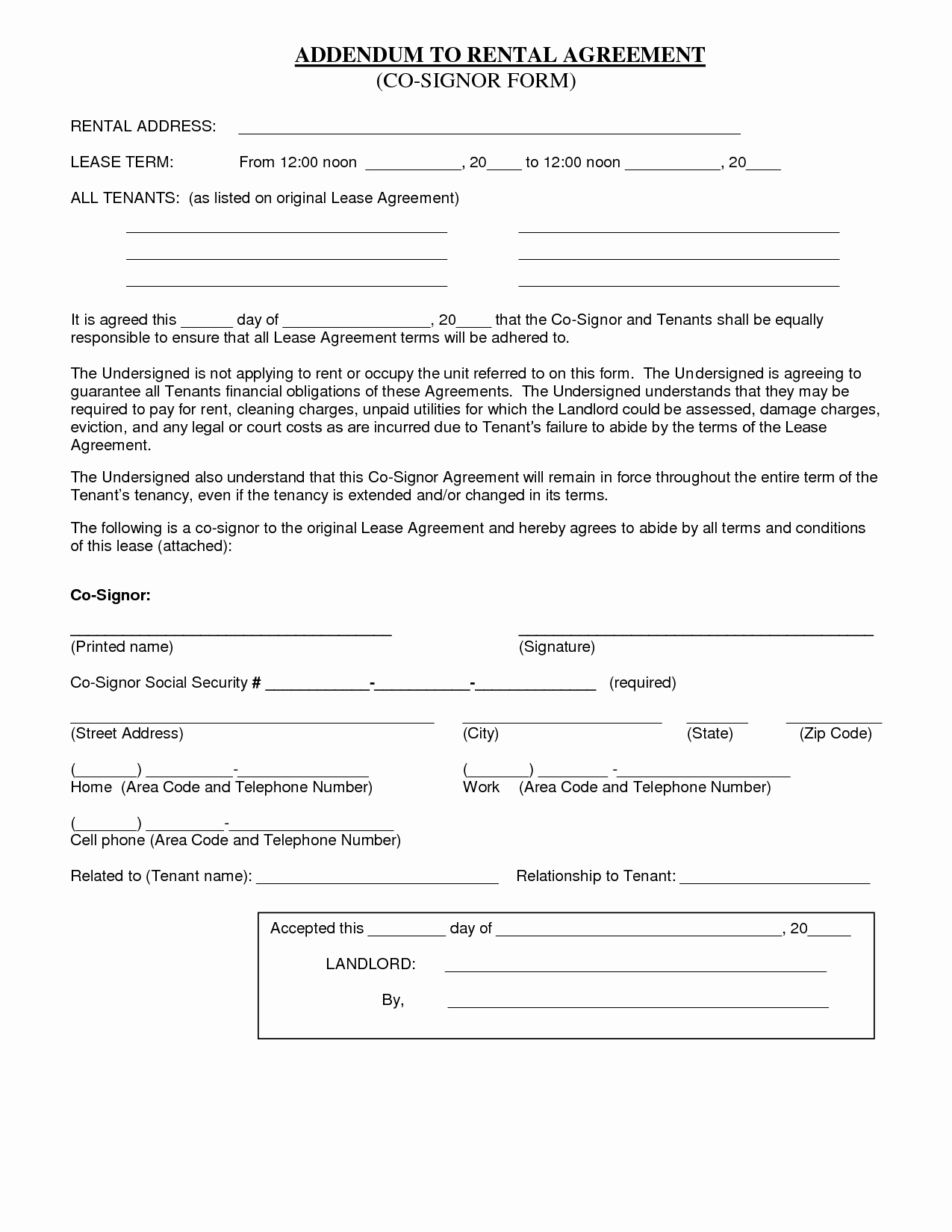 10 Best Of Basic Room Rental Agreement form