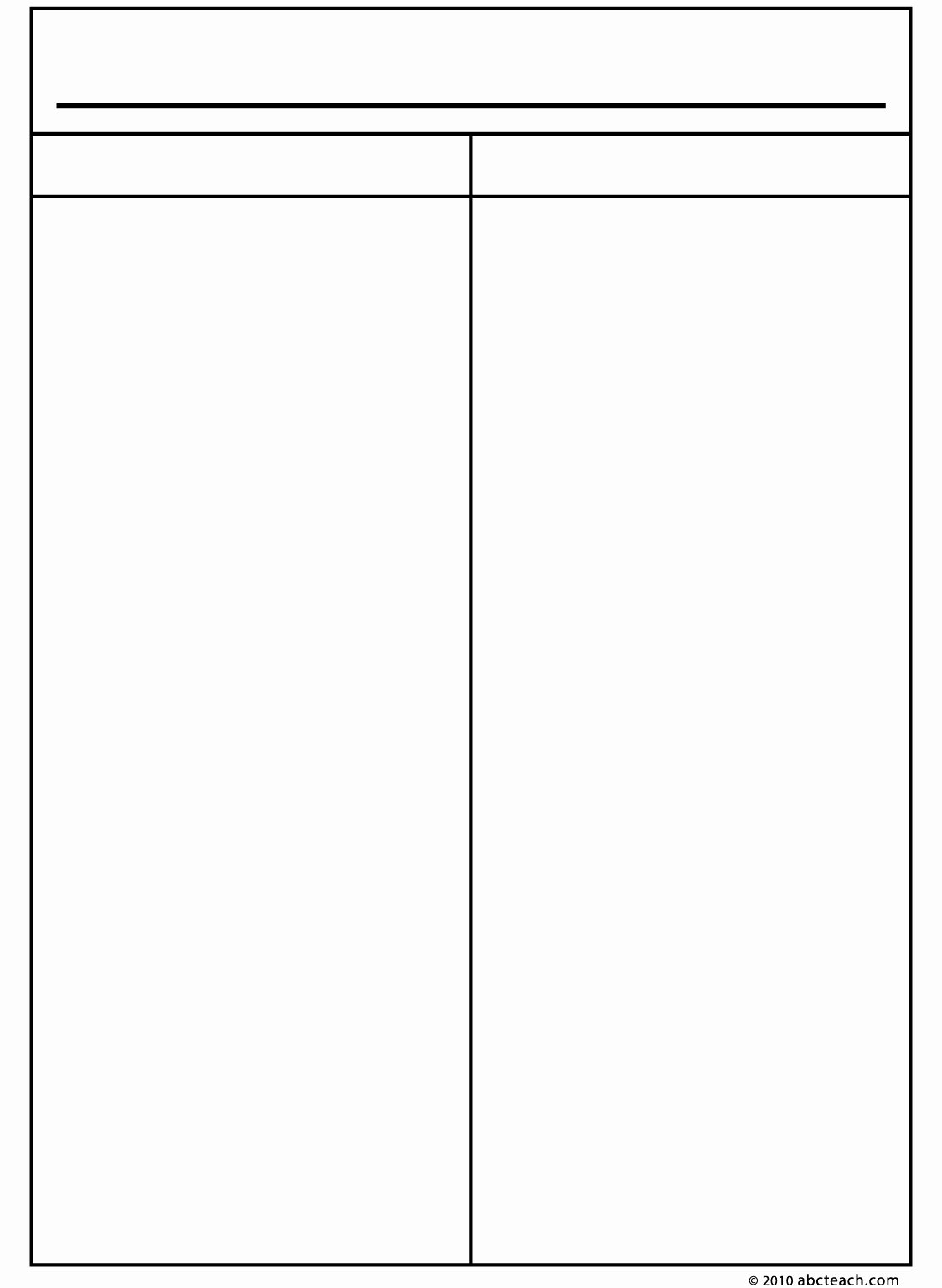 10 Best Of Blank 2 Column Chart Template 4 Column