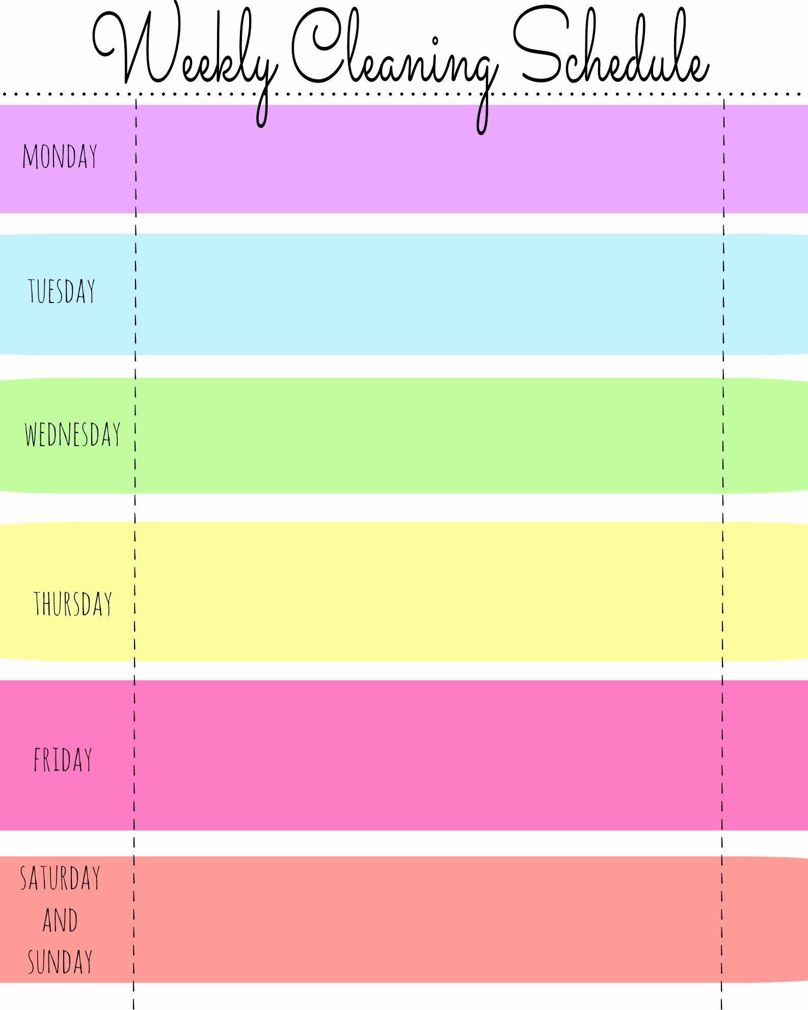 10 Best Of Blank Week Charts Templates Blank