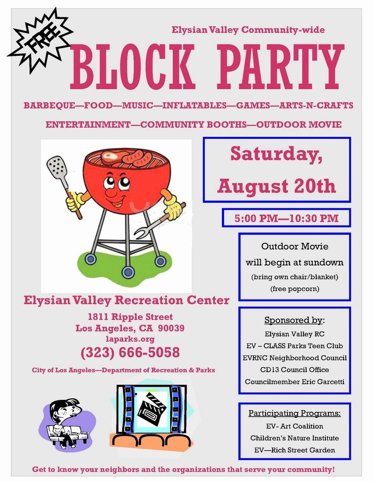 10 Best Of Block Party Flyer Template Free Bbq