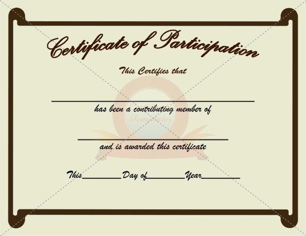 10 Best Of Certificate Participation Template