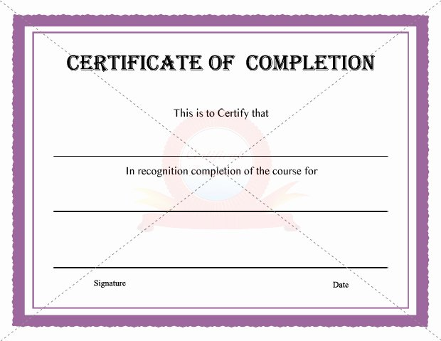10 Best Of Certificate Pletion Template