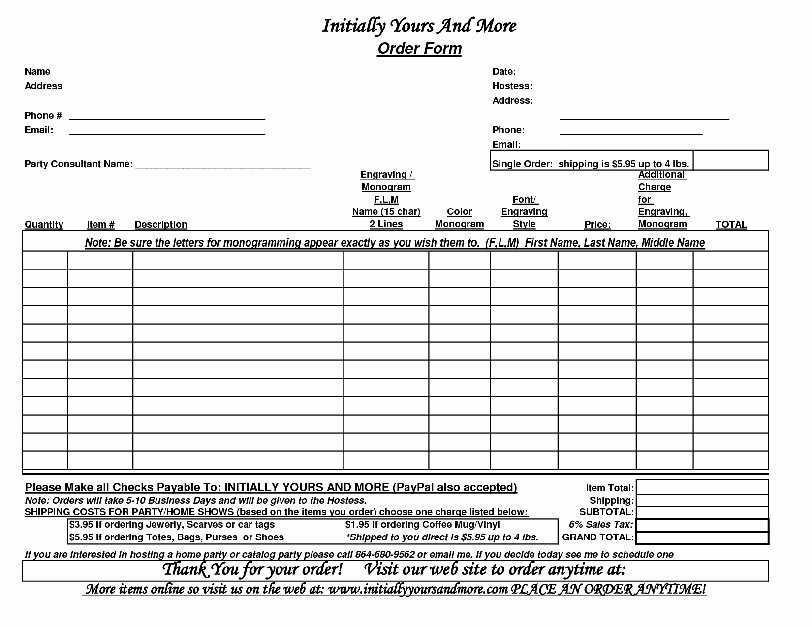 10 Best Of Custom Business forms Printable Blank