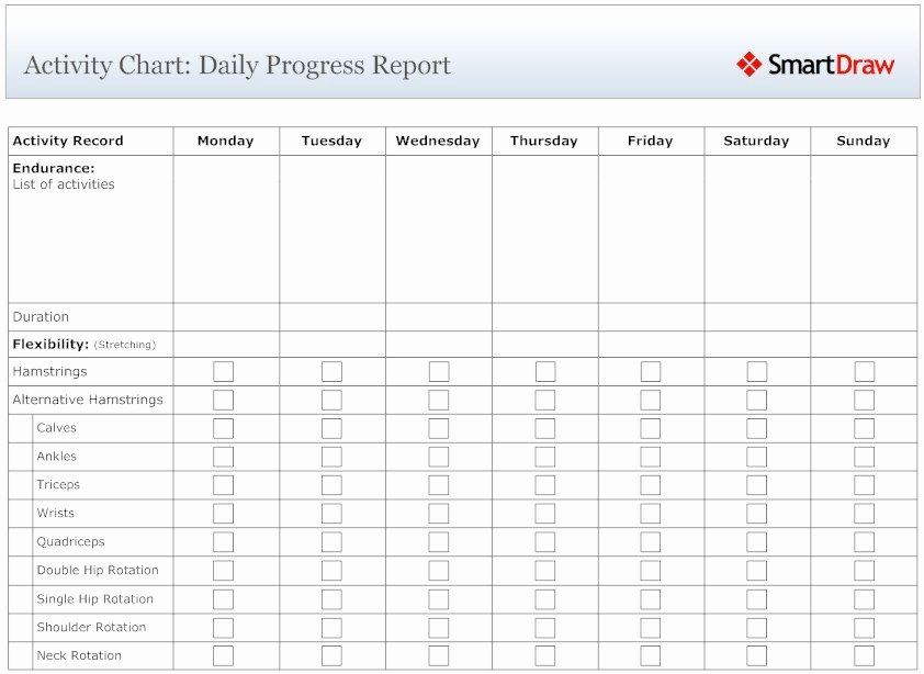 10 Best Of Daily Activity Chart Daily Time
