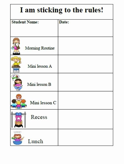 10 Best Of Daily Sticker Chart for Kindergarten