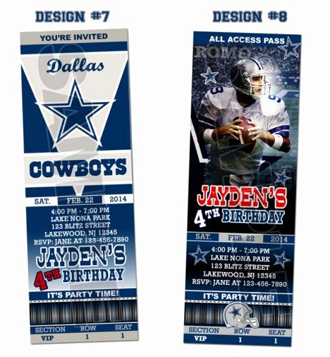 10 Best Of Dallas Cowboy Invitations Template Free