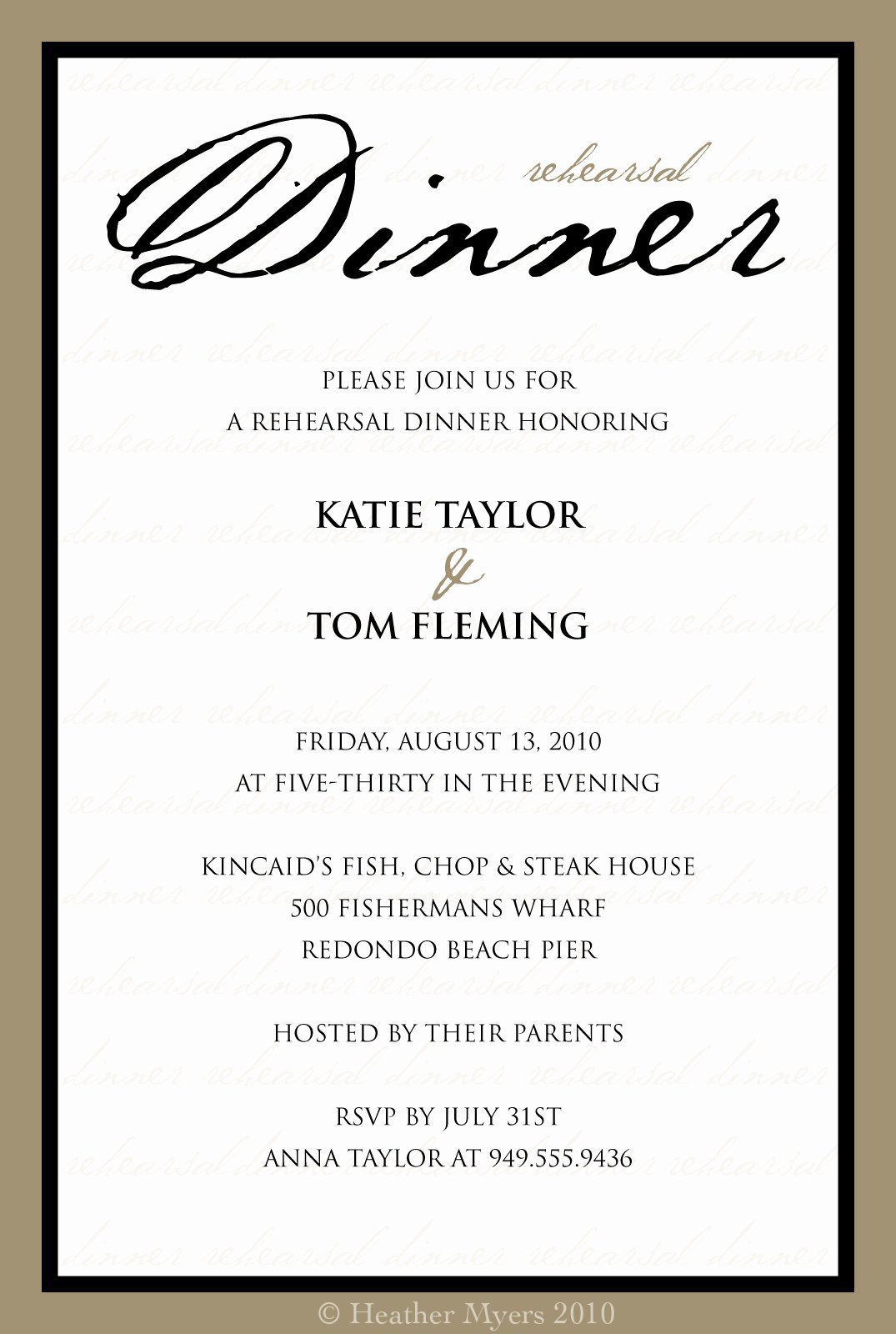 10 Best Of Dinner Invitation Template formal