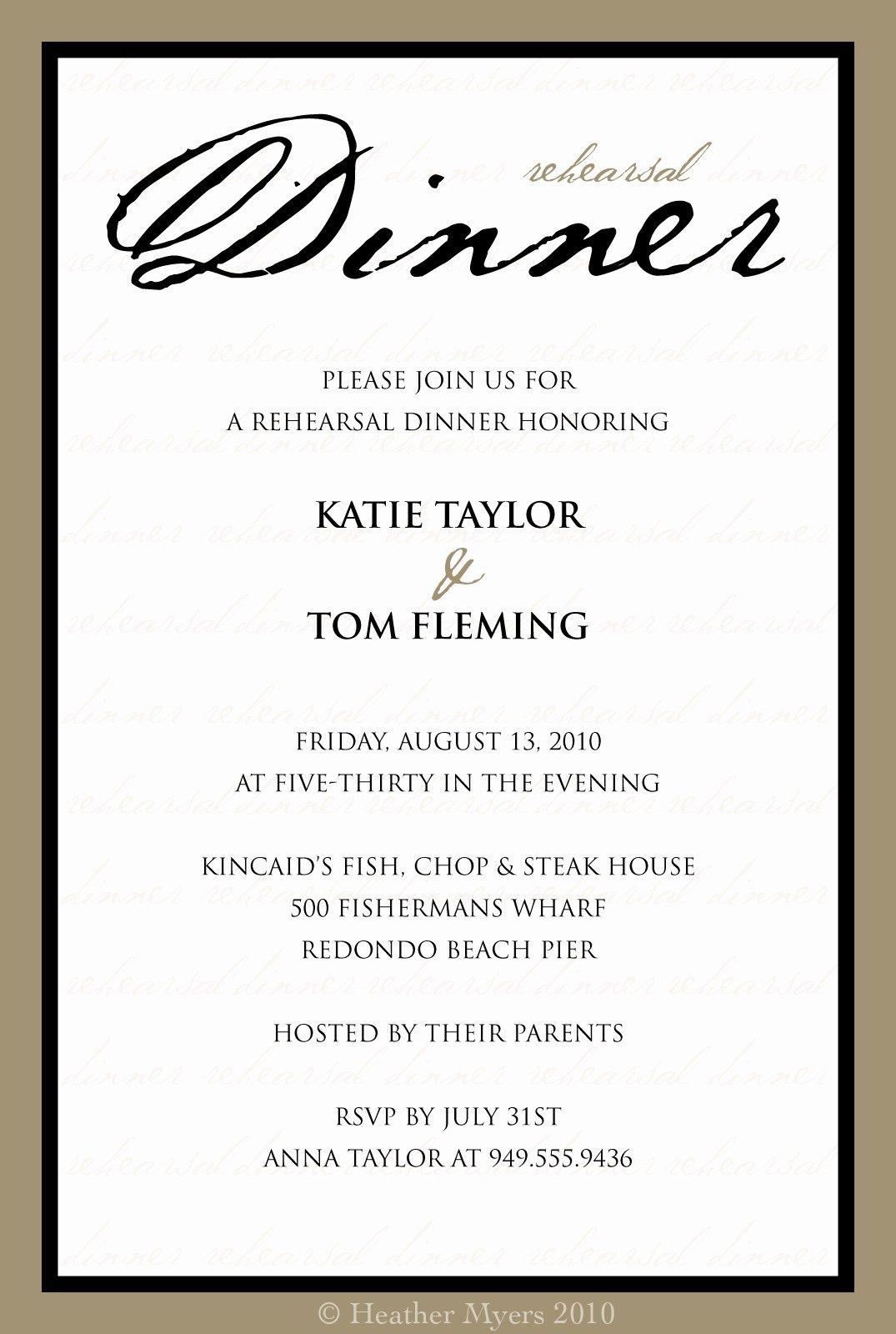 10 Best Of Dinner Invitation Template formal