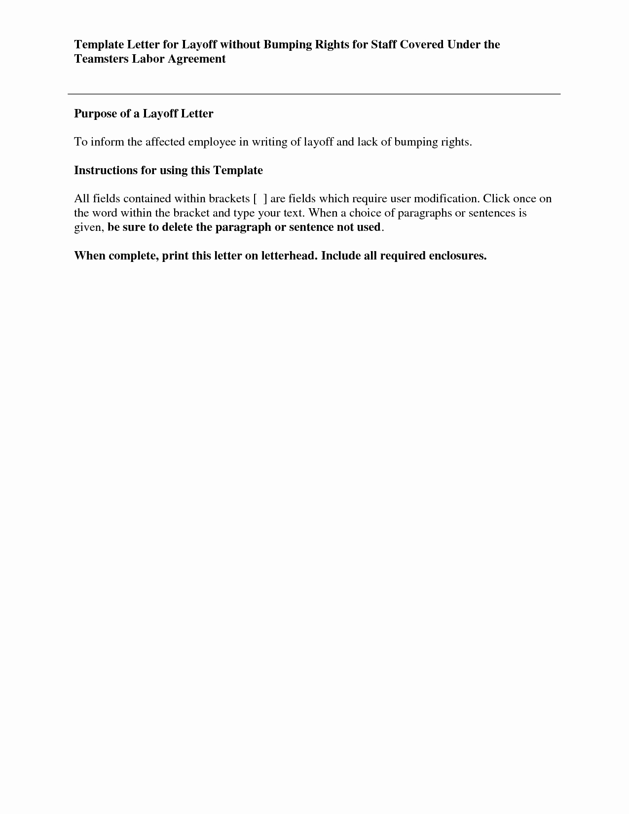 10 Best Of Employee Layoff Notice Template