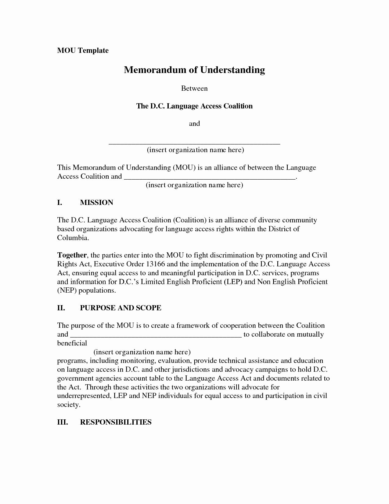 10 Best Of Example Memorandum Understanding