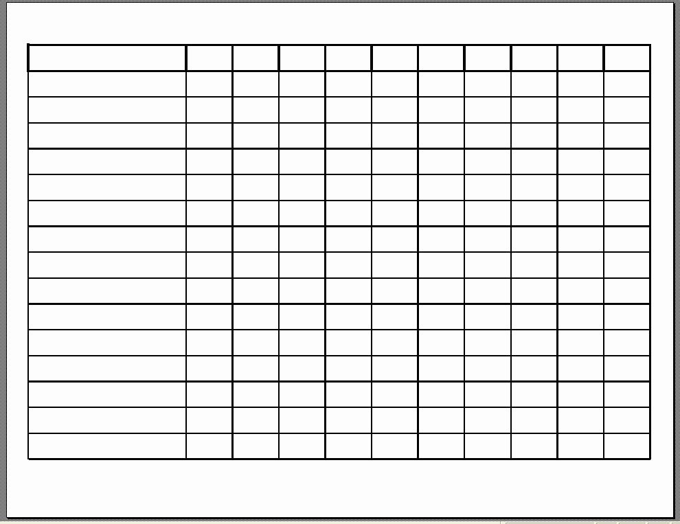 10 Best Of Free Printable Blank Employee Schedules