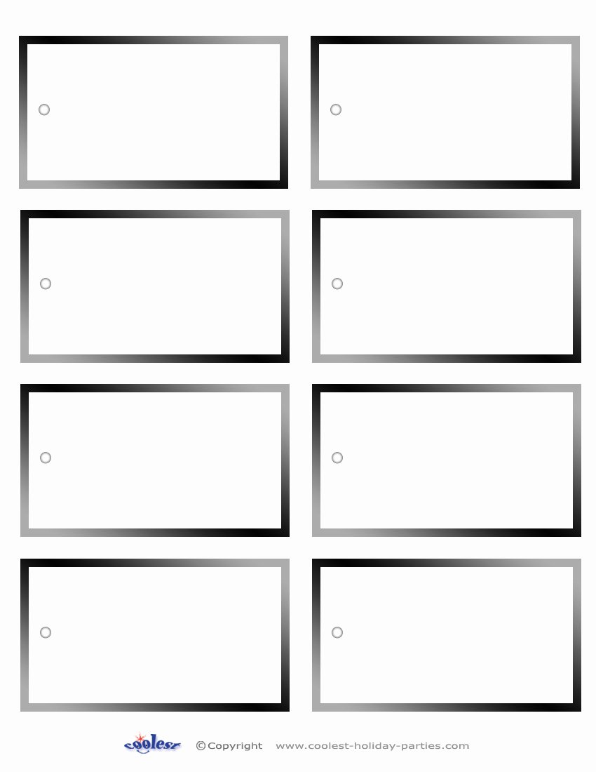 10 Best Of Free Printable Blank Name Tags Free