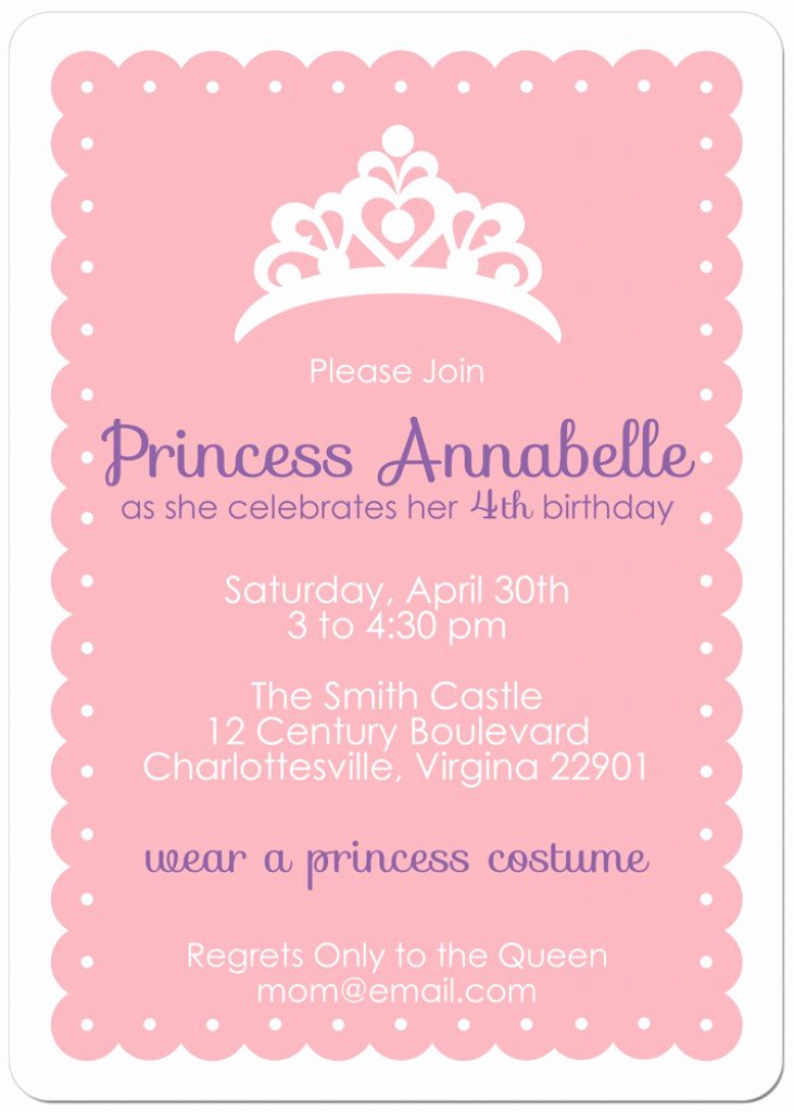 10 Best Of Free Printable Princess Invitation