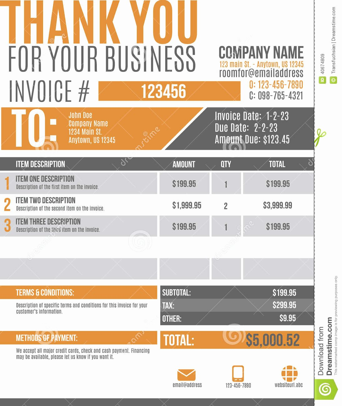 10 Best Of Funny Invoice Template Graphic Design