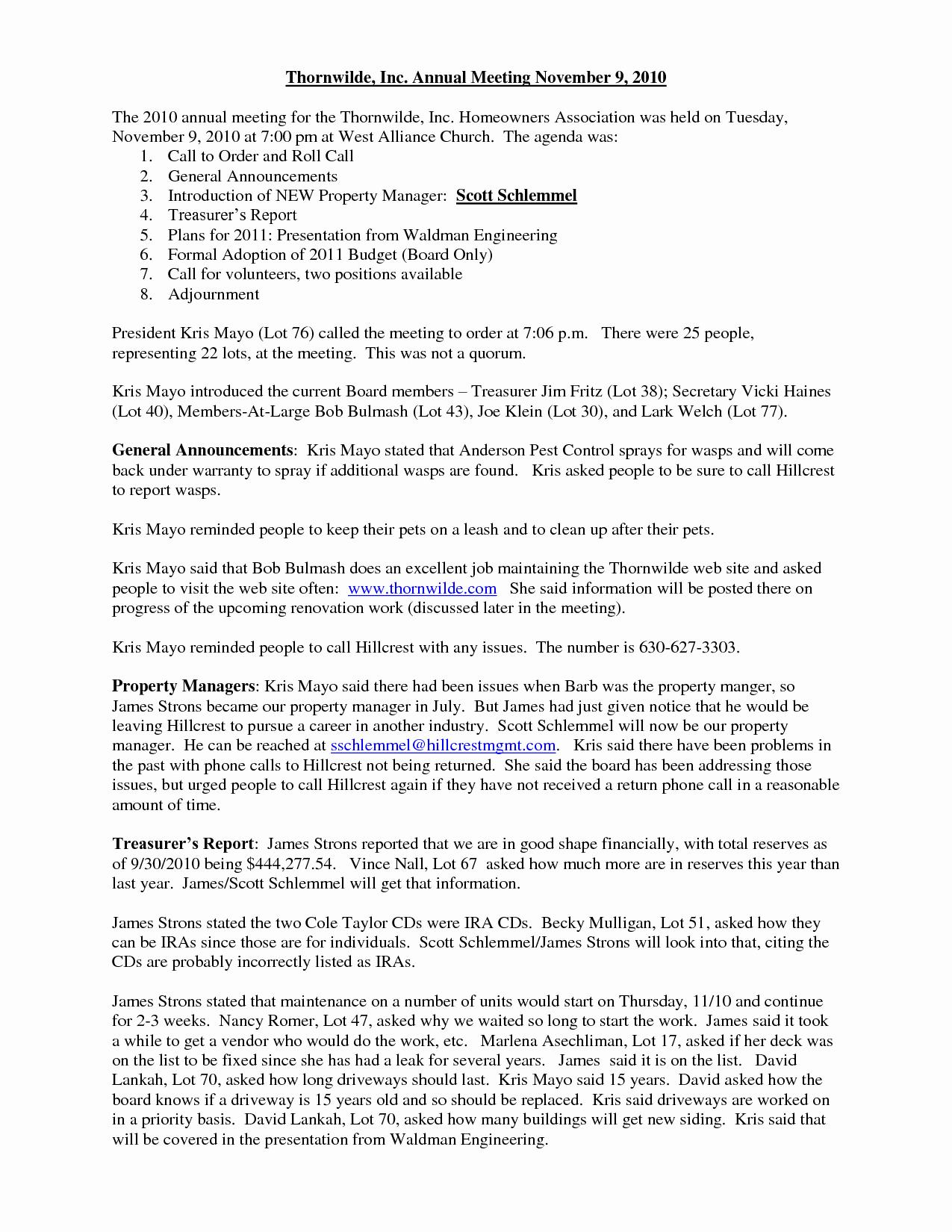 10 Best Of Hoa Meeting Notice Invite Annual