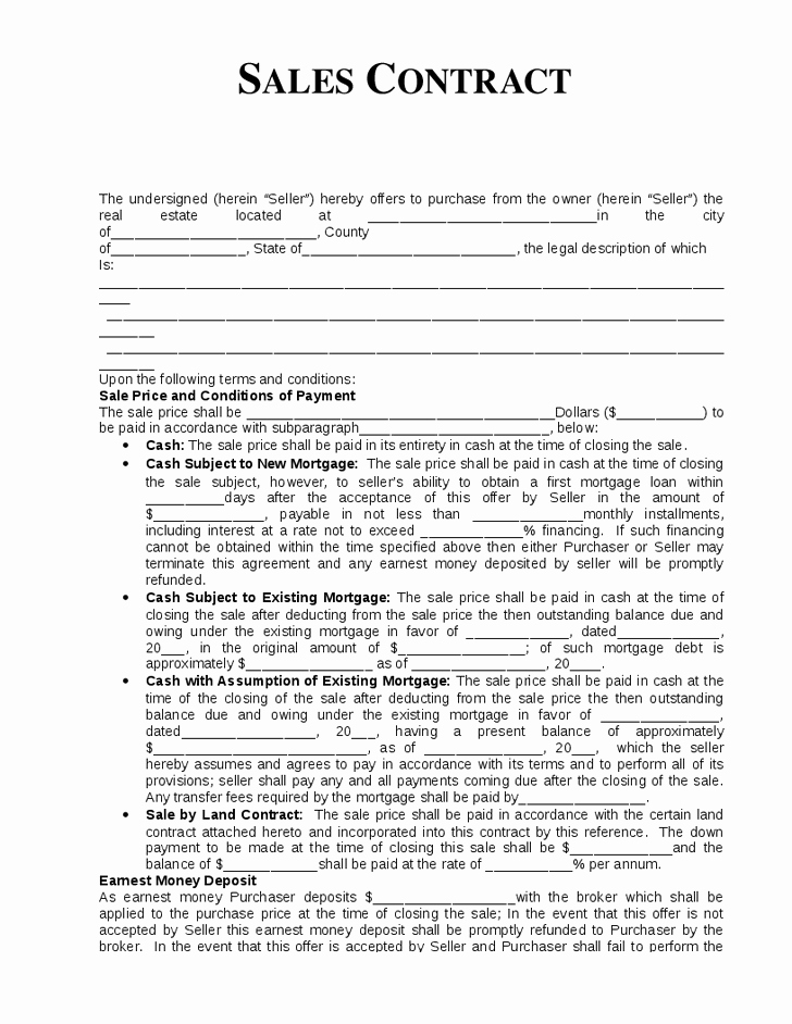 10 Best Of Home Sale by Owner Agreement Template