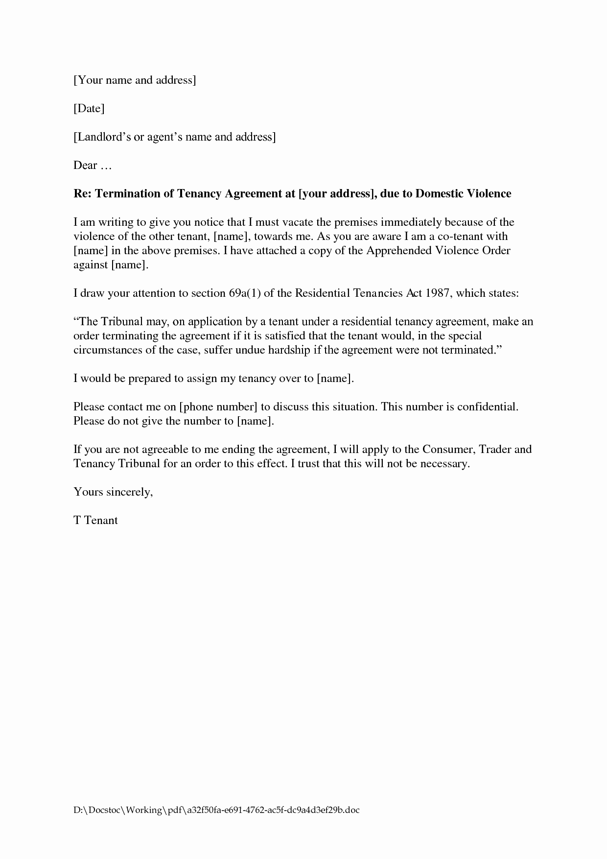 10 Best Of Lease Agreement Letter Lease Agreement