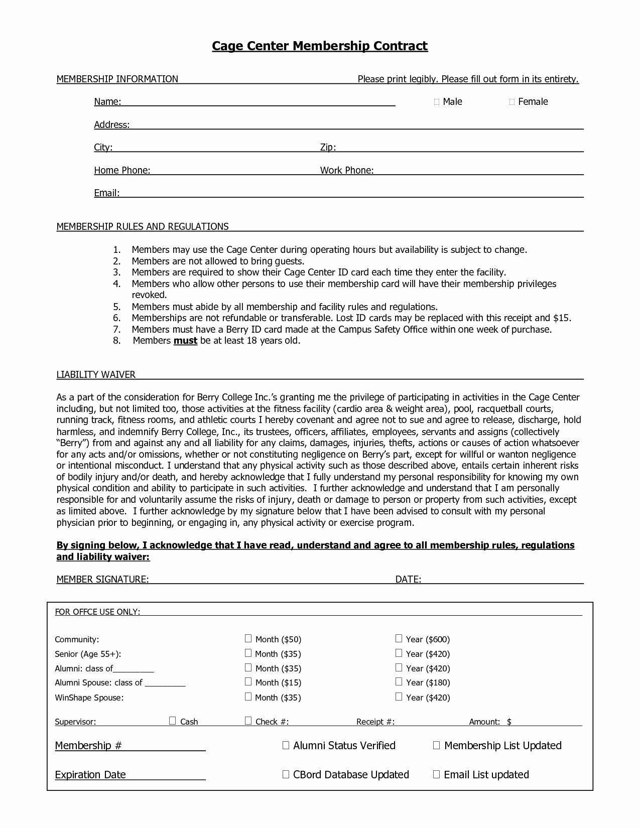 10 Best Of Membership Agreement Template Sample Membership Contract Agreement Template