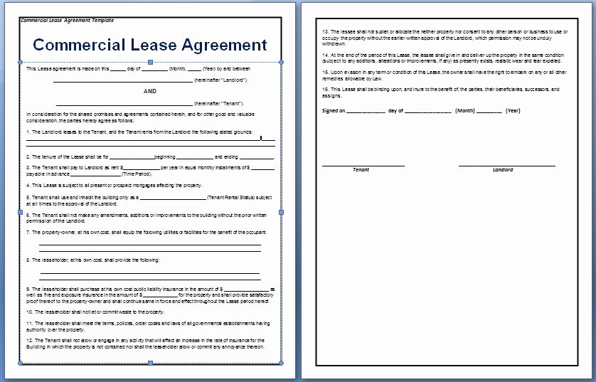10 Best Of Mercial Lease Agreement Template