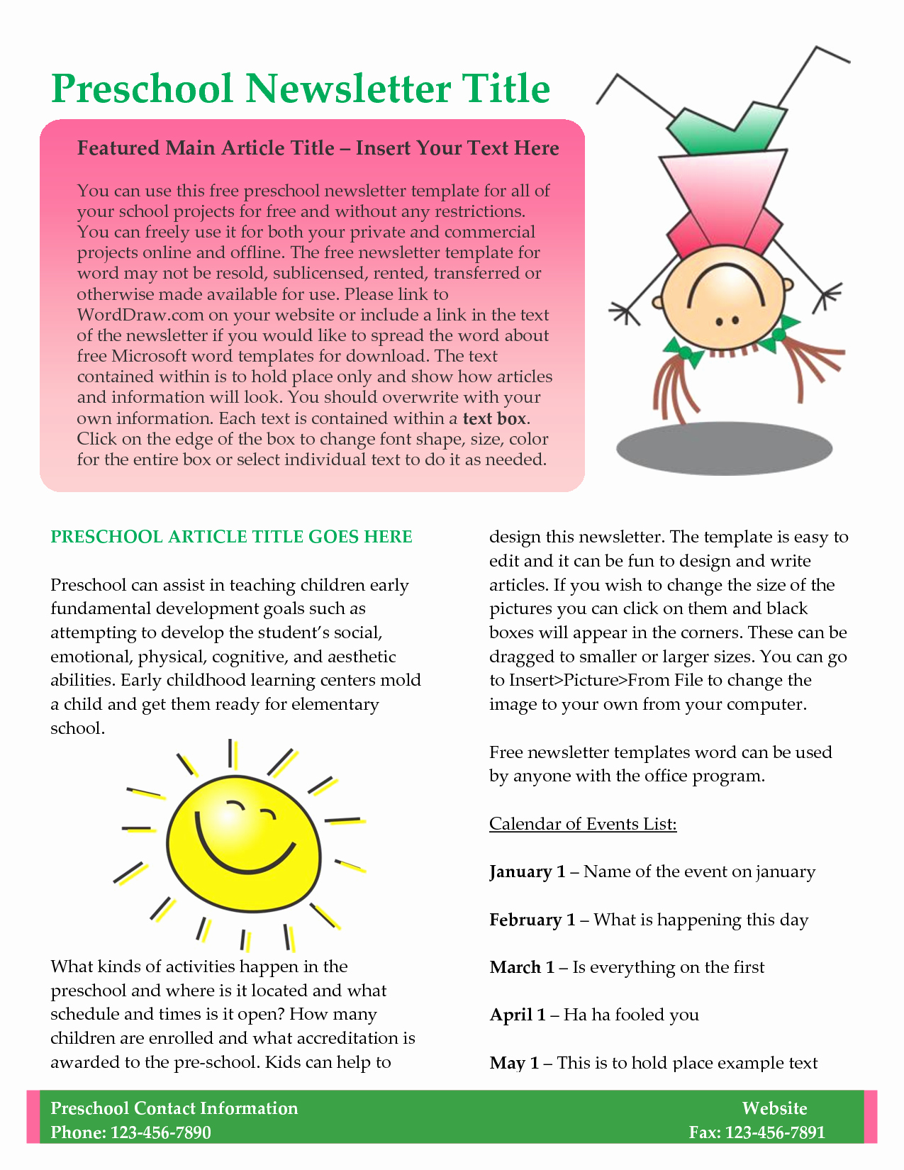10 Best Of Newsletter Template Free Business