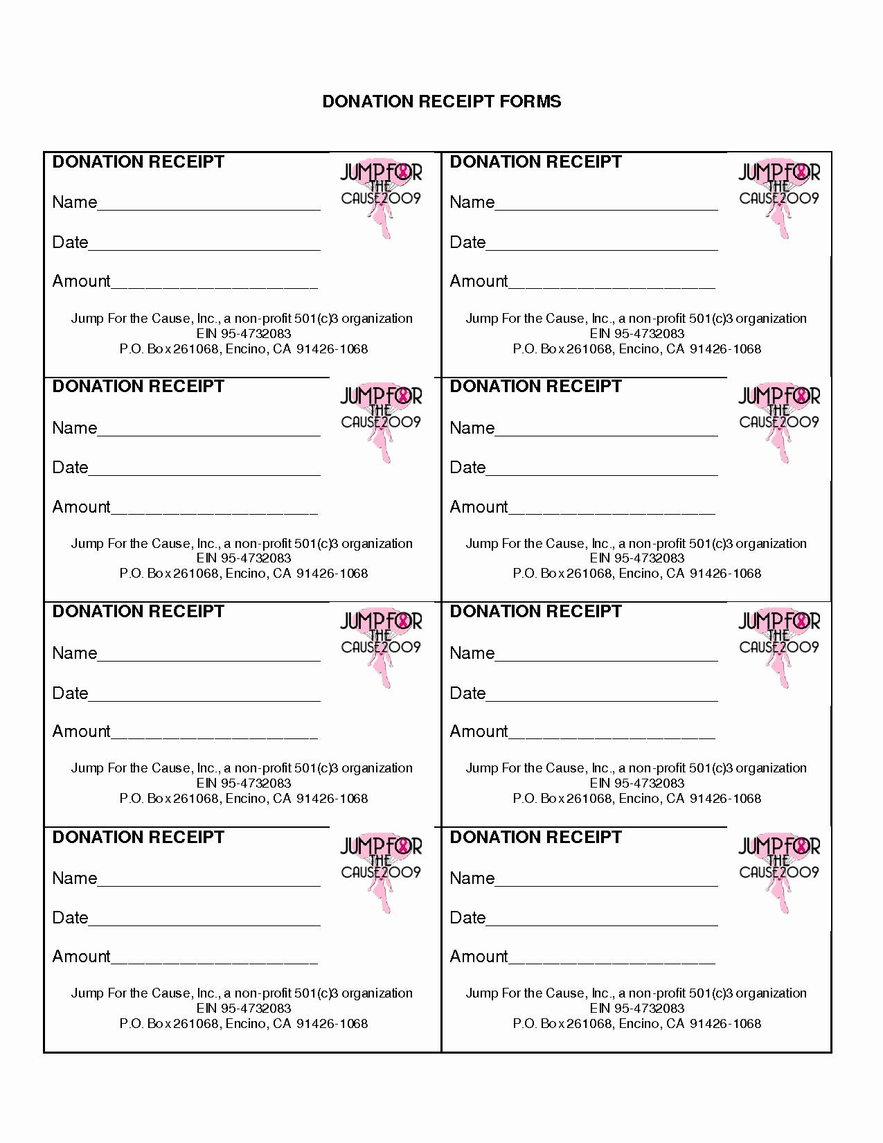 10 Best Of Non Profit Donation Receipt form Non