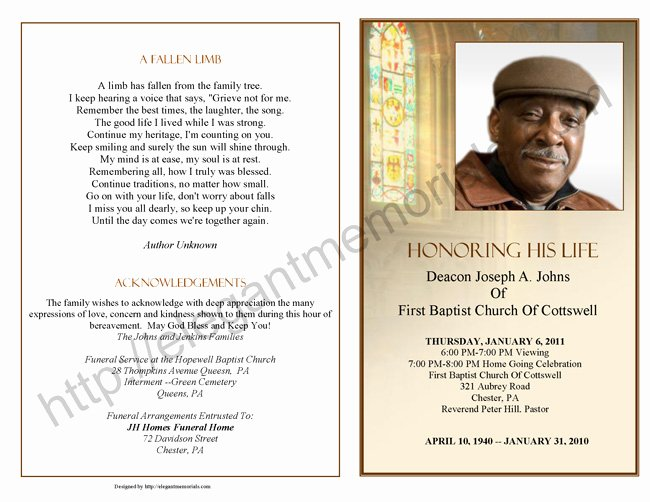 10 Best Of Obituary for Funeral Program Examples