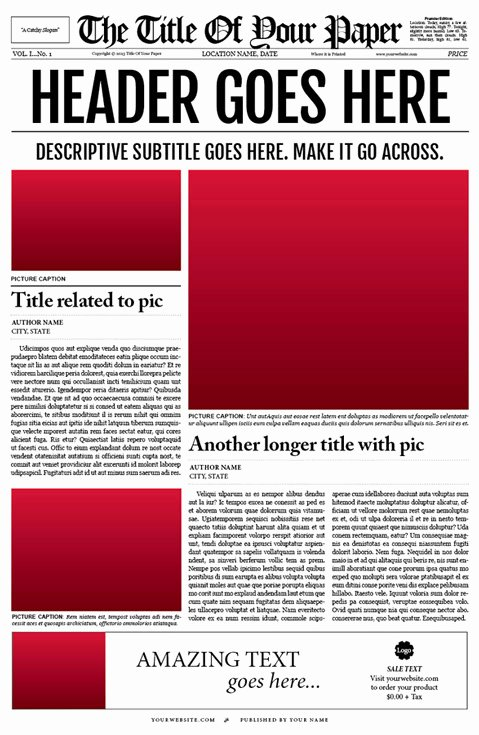 10 Best Of Old Newspaper Template Newspaper