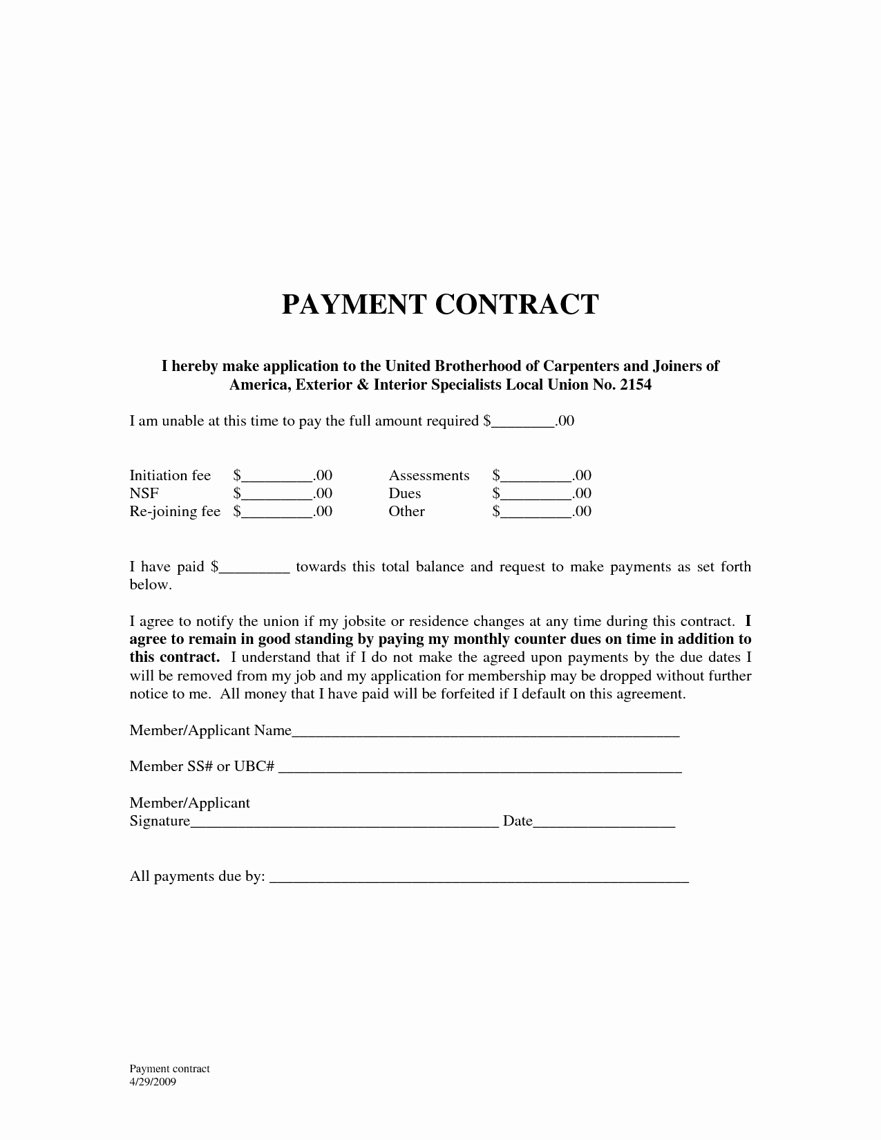10 Best Of Payment Agreement Template Sample