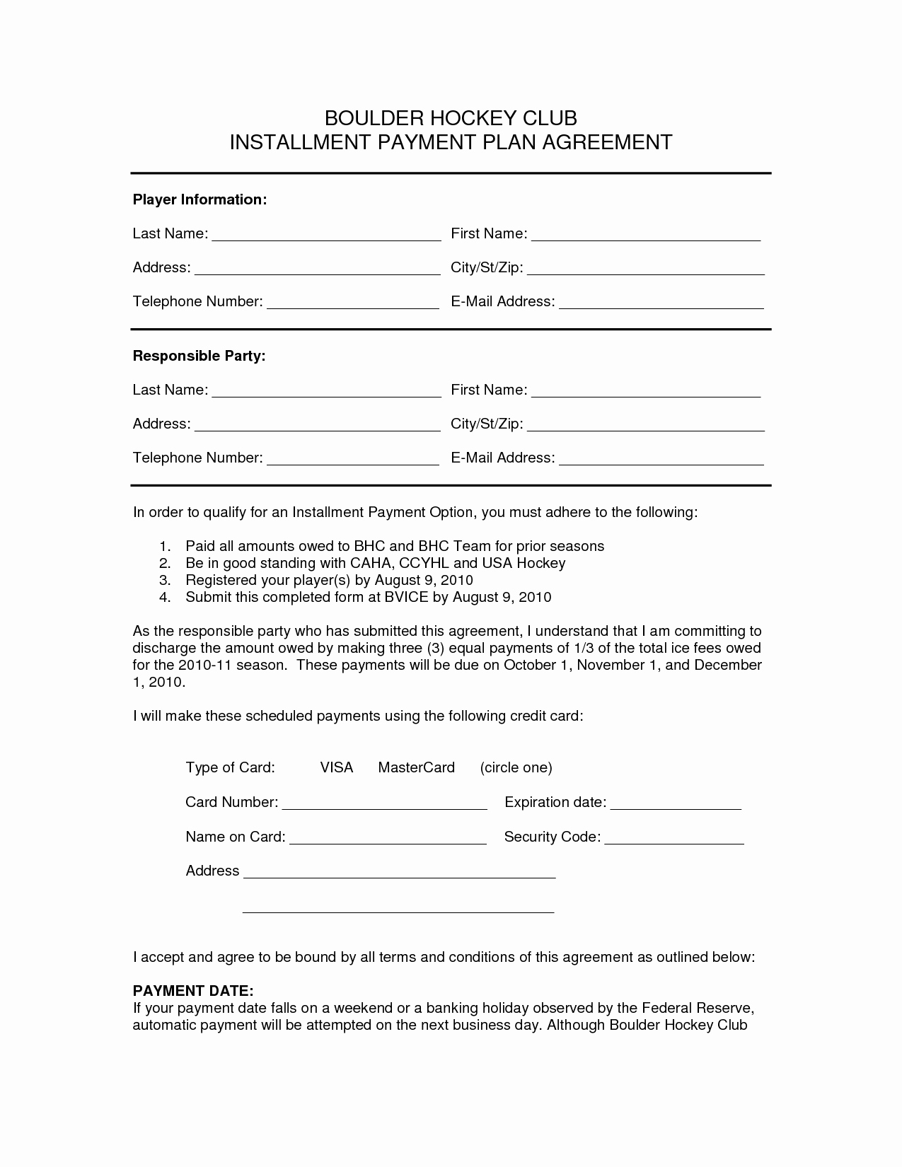 10 Best Of Payment Plan Agreement form Editable