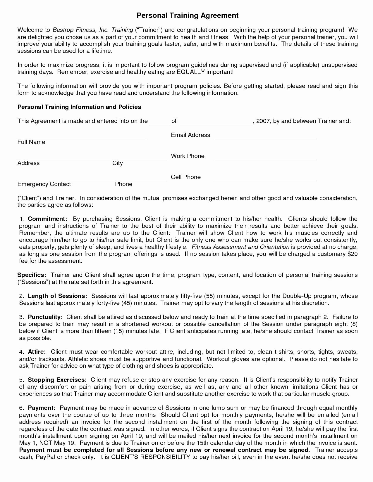 10 Best Of Personal Contract Agreement Sample