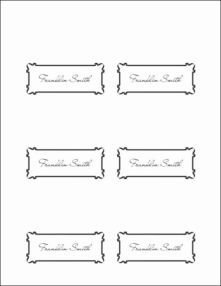 10 Best Of Place Card Template Word Printable
