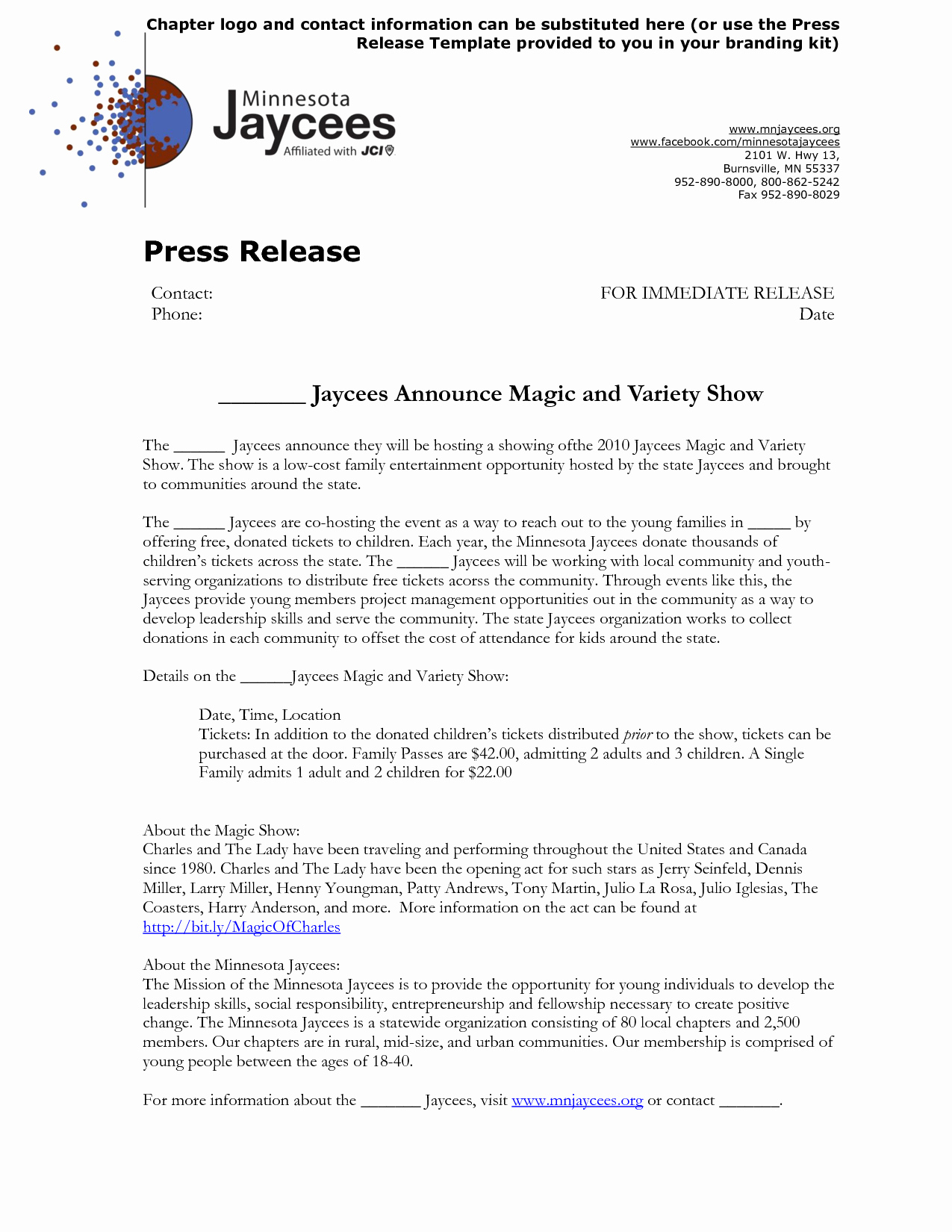 10 Best Of Press Release Template Word Political