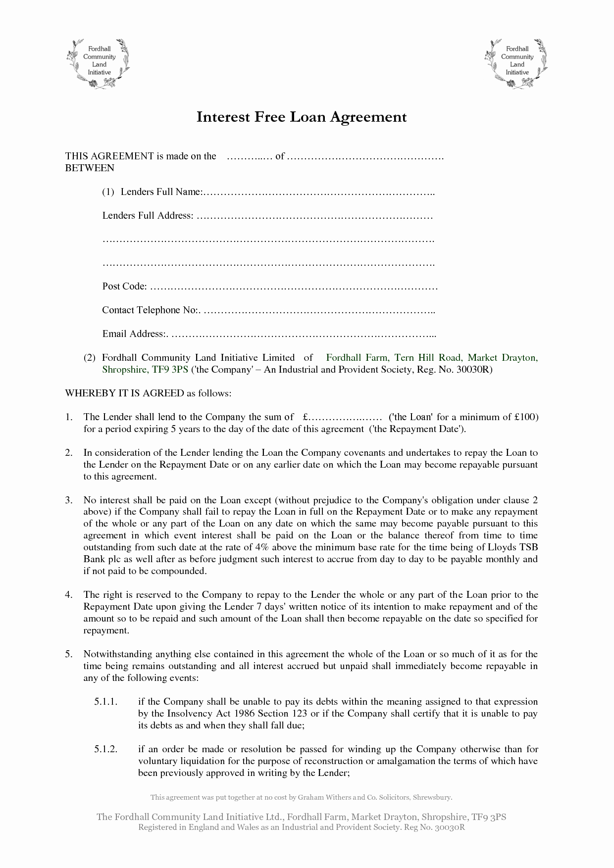 10 Best Of Printable Personal Loan Agreement