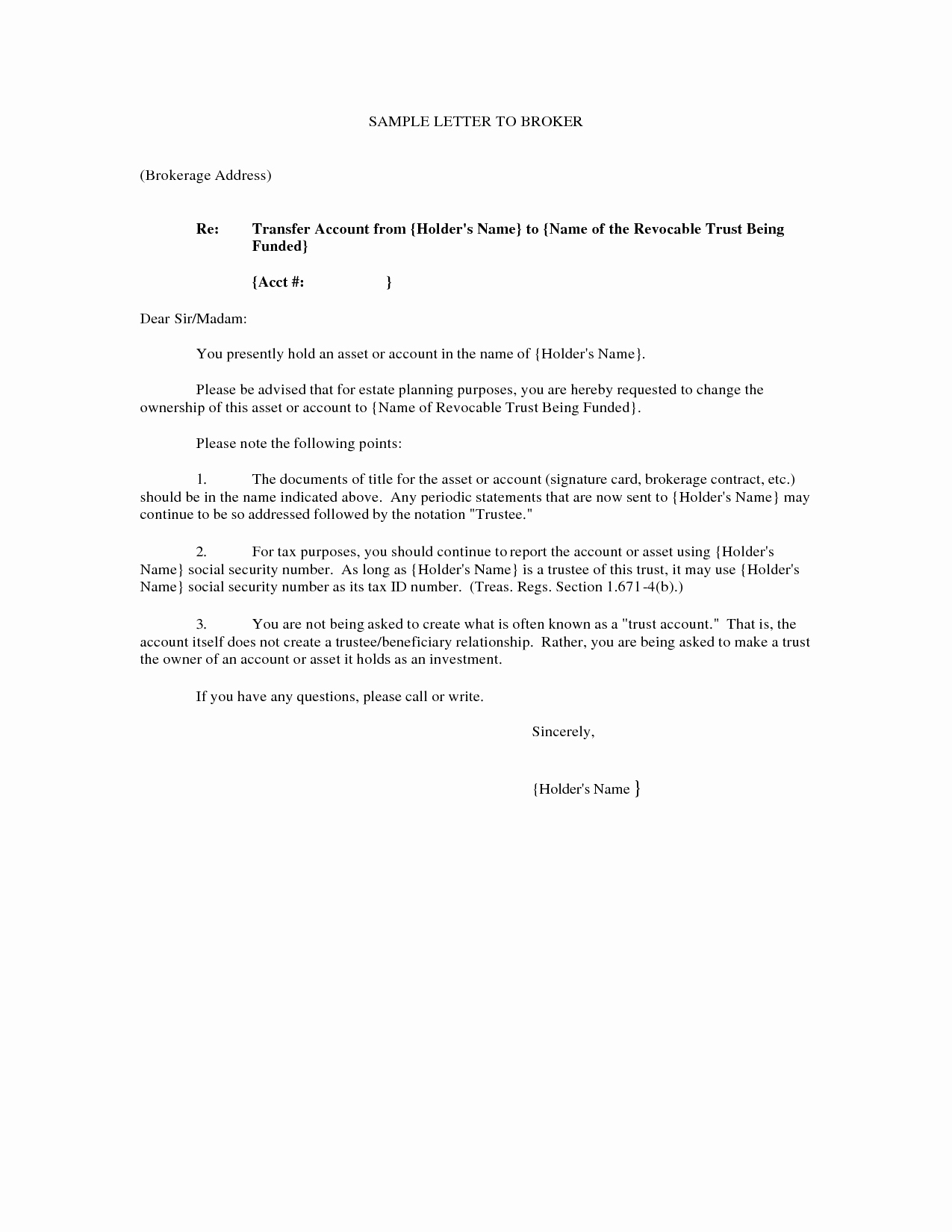 10 Best Of Property Transfer Letter Template Job