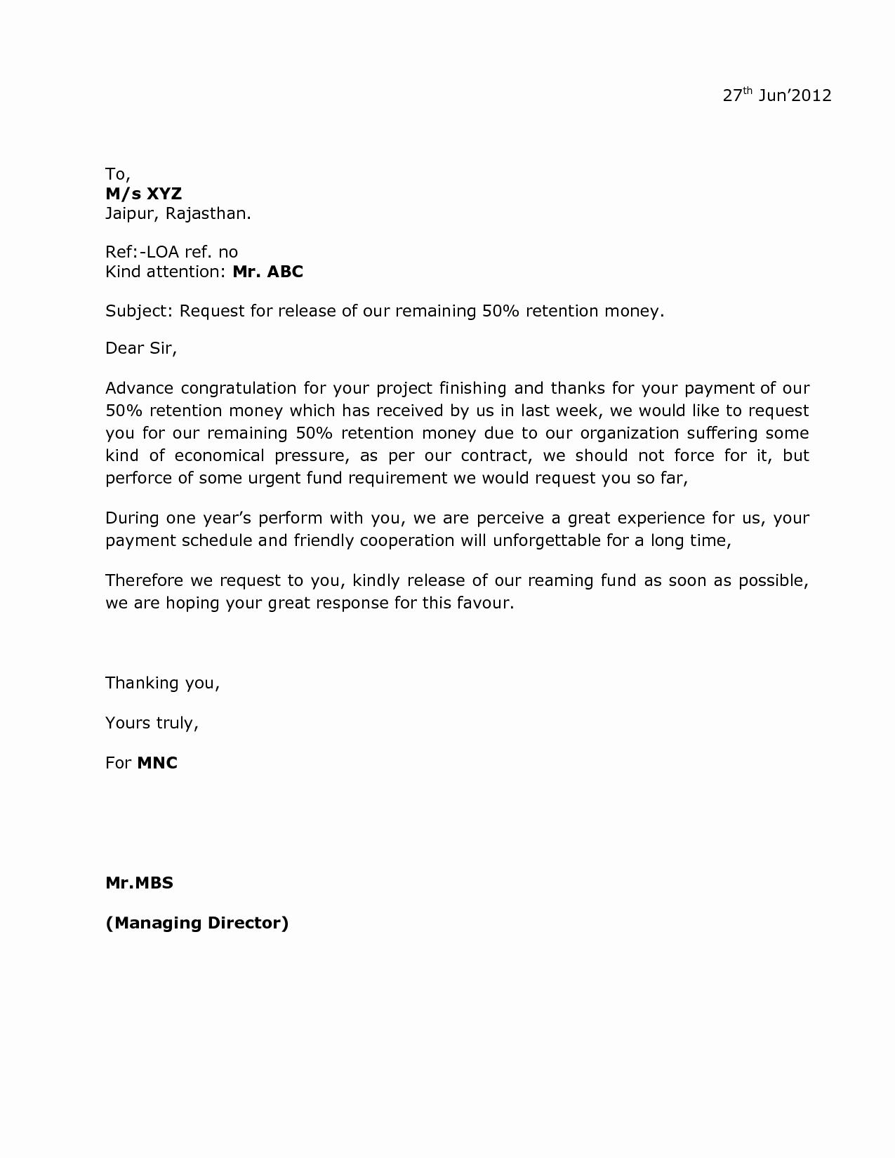 10 Best Of Sample Letter asking for Money