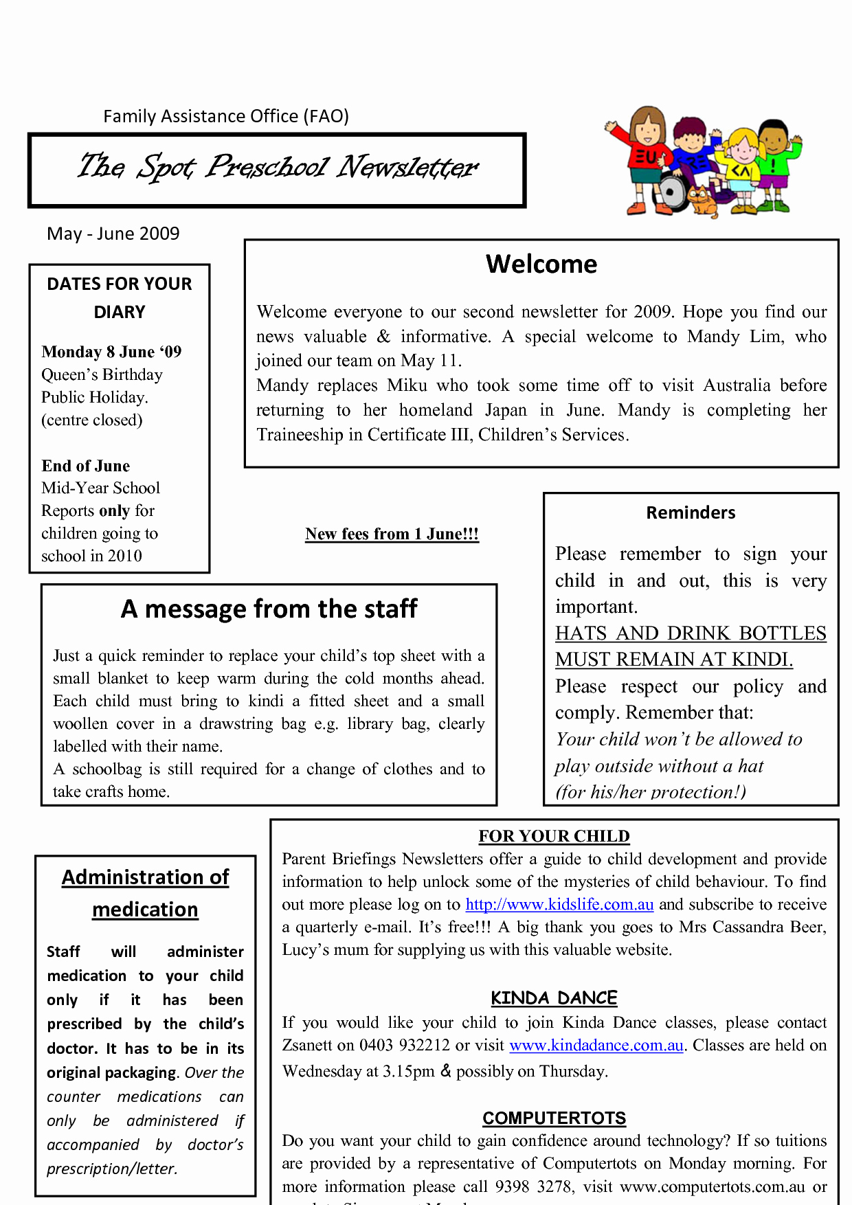 10 Best Of Sample Preschool Newsletters for Parents