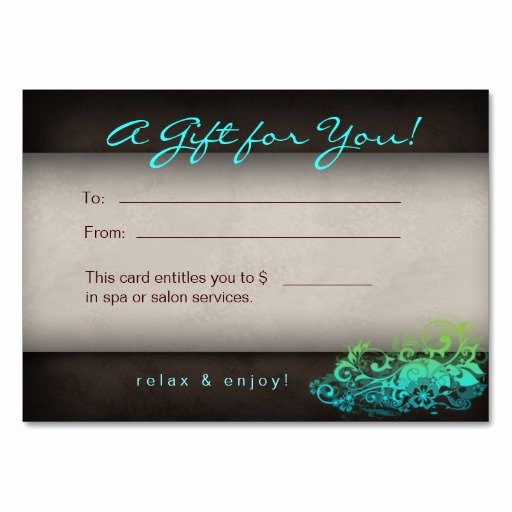 10 Best Of Spa Gift Certificate Template Fillable