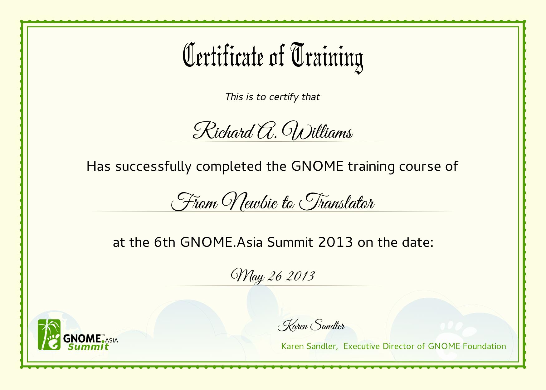 10 Best Of Training Certificate Wording Training