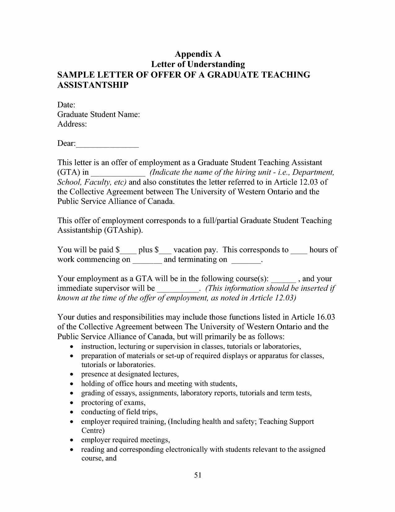 10 Best Of Va Letter Agreement and Understanding