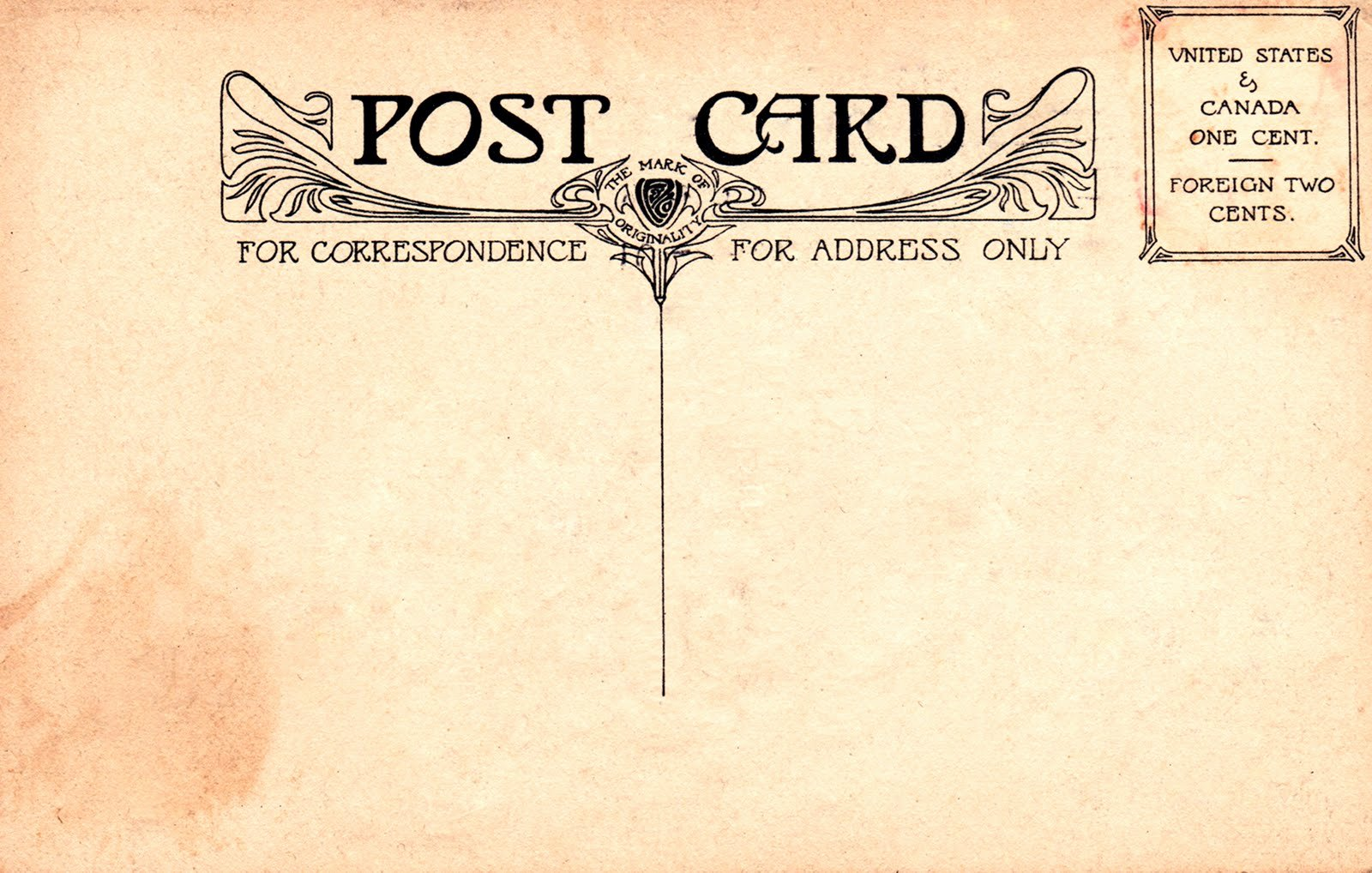 10 Best Of Vintage Postcard Templates Free Free