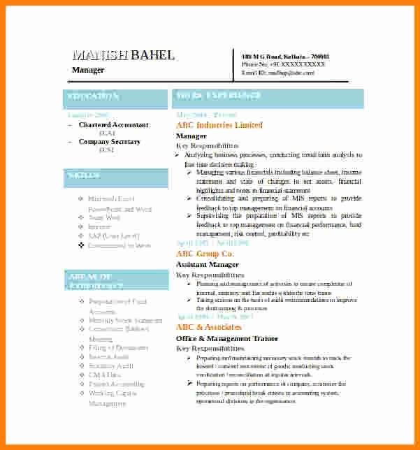 10 Best Resume format In Word Free